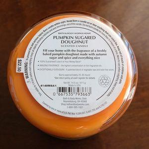 Bath & Body Works Accents - Bath & Body Works Pumpkin Sugared Doughnut Candle